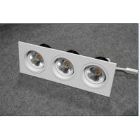 Wholesale Square LED ceiling lights with three venture, 3*7w, non-dimmable, adjustable structure from china suppliers