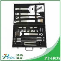 Wholesale High quality Barbecue accessory Stainless steel BBQ Grill Tool Set in aluminum case from china suppliers