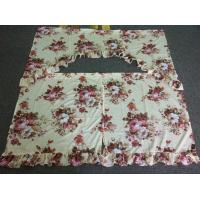 Wholesale Floral Boquet Insulated Kitchen Panel Curtains For Hotel / Office from china suppliers