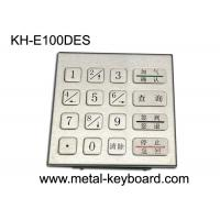 Wholesale Rugged Stainless Steel Security Keypad Entry with 16 Keys In 4x4 Matrix from china suppliers