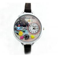 Wholesale Slim Strap Leather Watch , DIY Korean Mini Cartoon Watch from china suppliers
