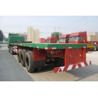 Wholesale 28T Jost Landing Gear Flatbed Semi Trailer with three FUWA Brand Axles from china suppliers