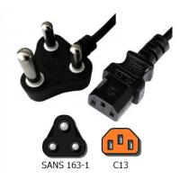 Quality South Africa  SANS163 -1 to C13 Power Cord for sale
