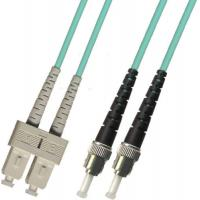 Wholesale multimode Duplex 10 GIGABIT Fiber Optic Patch Cable 100M ST-SC 50/125 Blue from china suppliers