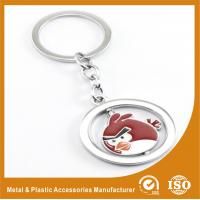 Wholesale Round Square Gold Silver Custom Angry Bird Keychains Zinc Alloy from china suppliers