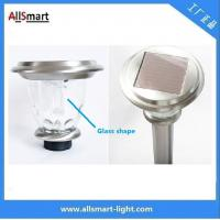Wholesale Stainless Steel 800mah Li-Fe H60cm 100LM Glass Solar LED Garden Light /Solar Light Outdoor pathway Lawn Decoration Lamp from china suppliers