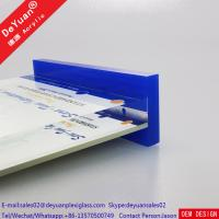 Quality Hotel Acrylic Sign Board  Holder With Blue Base Custom Design for sale