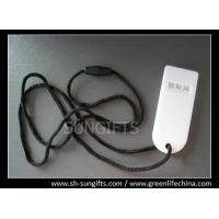 Wholesale Plastic white flat whistle with black lanyard for cheering things or sports from china suppliers