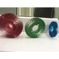 Wholesale Red Anodized Aluminum Sunflower Radiator Led Cylindrical Heat Sink for Tracking Light from china suppliers