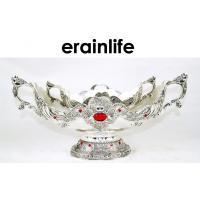 Wholesale Metal Modern Fruit Tray Home Decorative Bowls With Two Handle from china suppliers
