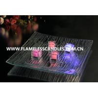 Wholesale Color Changing Waterproof Tea Lights / Submersible Slow Flashing LED Ice Cubes from china suppliers