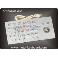 Wholesale Metal Panel Mount Self-service Kiosk Keyboard with Rugged Trackball from china suppliers