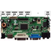 Wholesale HDMI+DVI+VGA+Audio LCD/LED Controller Board Model support 1920X1080 from china suppliers