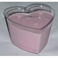 Quality 150ml Disposable Ice Cream Cups Plastic With Heart Shaped Star Shape for sale