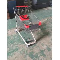Wholesale Coated Metal Steel Grocery Store Powder Shopping Trolley With 4 Wheel , SGS / ISO9002 from china suppliers