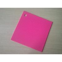 Wholesale Food-safe Square Silicone Heat Resistant Mats , Non-stick Silicone Trivet from china suppliers