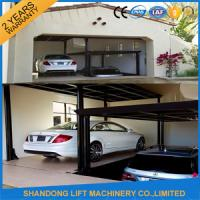 Wholesale Steel Auto Car Lift , Hydraulic Garage Car Lift Double Deck Car Parking System from china suppliers