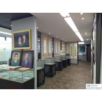 Wholesale Museum display showcase in tradition design by wood stand and glass cube in LED light from china suppliers