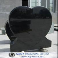 Wholesale Black Heart Shaped Granite Tombstone, High Polished Black Granite Monuments from china suppliers