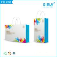 Wholesale Bright Blue Paper Gift Bags , Cardboard Small Paper Favor Bags Packaging For Baby Clothes from china suppliers