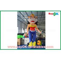 Wholesale 2m Height Inflatable Cartoon Characters Inflatable Bossy Cow With Built - In Blower from china suppliers