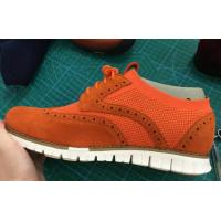 Wholesale Flyknit with sude leather casual EVA sole shoes,leather casual shoes,lightweight sport shoes from china suppliers
