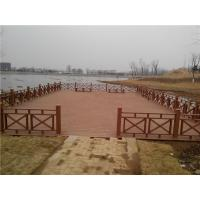 Wholesale Chinese Publich Park WPC Fence and Decking For Water gallery pavilion from china suppliers