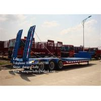50 Tones Tri - Axle Concave Type Low Bed Semi Trailer with ramps