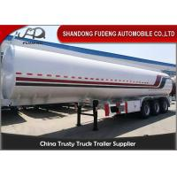 Quality Round 40000L 45000L 50000L Diesel Oil Fuel Tanker Semi Trailer for sale