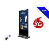 Wholesale 4K Resolution Floor Standing LCD Advertising Display Kiosk Digital Signage 3G from china suppliers