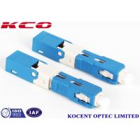 Wholesale blue SC /UPC Fiber Optic Fast Connector 2.0mm 3.0mm FTTX Solution Product from china suppliers