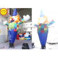 Wholesale Smiling Inflatable Clown Air Sky Dancer Logo / Banner Printing For Party from china suppliers