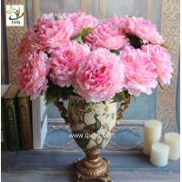 Wholesale UVG FPN101 Dining table centerpieces pink artificial peony silk flower arrangements for party decoration from china suppliers