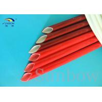 UL Brick Red Silicone fiberglass sleeving silicone rubber coated fibreglass sleeves
