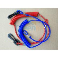 Wholesale Solid Blue/Red Plastic Spiral&1.5mm Cotton Core Jet-ski Stop Switch Safety Floating Lanyards from china suppliers