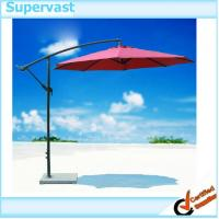 Wholesale 10 Feet Patio Umbrella Tilt W/ Crank Cantilever Garden Parasols Burgandy from china suppliers