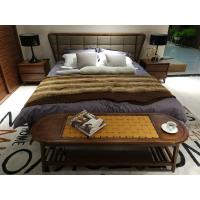Wholesale 2017 New design of  Fabric Upholstered headboard Bed by Walnut wood frame for Fashion Apartment  bedroom furniture use from china suppliers
