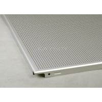 Buy cheap Sound - Absorbing Metal Ceiling Tiles 600 X 600 Perforated For Offices from wholesalers