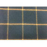 Wholesale 50% Wool Navy / Orange Tartan Plaid Fabric Fashionable For Fall / Winter from china suppliers