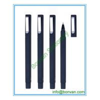 Wholesale rubber sprayed square ball pen, W hotel ball pen from china suppliers