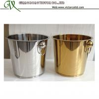 Buy cheap Hot Sales 7L 9L Stainless steel Ice Bucket Golden Mirror Sanding Polishing High Quality OEM from wholesalers