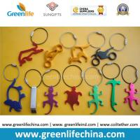 Wholesale Hot Selling Metal Bottle Openers w/Stainless Steel Loop Key Chain Holders from china suppliers