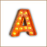 Wholesale Illuminated 9'' LED Light Up Letters , Decorative Marquee Alphabet Lights Words from china suppliers