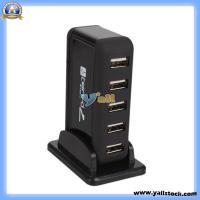 Quality USB 2.0 Hub Powered 7-Port High Speed+Free AC Adapter -CV054BL for sale