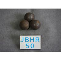 Quality High Hardness 61-62hrc Hot Rolling Steel Balls B2 D50mm Grinding Media Ball for Cement Plants for sale