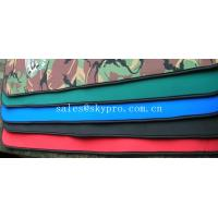 Wholesale Good flexibility Red / green / black neoprene fabric Roll with polyester coating from china suppliers