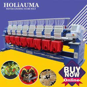 China Like happy/swf/tajima computerized embroidery machine in guangzhou 1200 spm cap t-shirt flat 8 head embroidery machine f on sale
