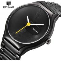 China BENYAR Cool Black Fashion 316L Steel Couple Quartz Wrist Watches Lovers Watch BY-5119 for sale