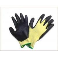 Wholesale Unique yellow black color Cut Resistant Dacron customed Nitrile Coated Gloves from china suppliers