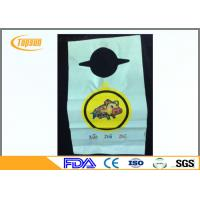 Wholesale Round Neck Disposable Plastic Bibs PE Baby Bibs With Smooth Surface from china suppliers
